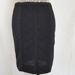 Dolce&Gabbana black corset style skirt jacquard